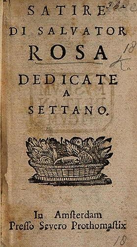 Satire di Salvator Rosa, dedicate a Settano: ROSA, Salvatore