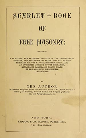 Scarlet book of free masonry : containing: Redding, M. W.