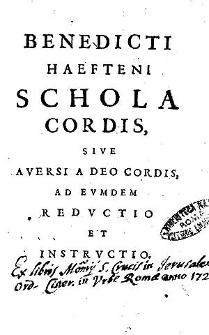 Schola cordis siue auersi a Deo cordis: Benedictus : van