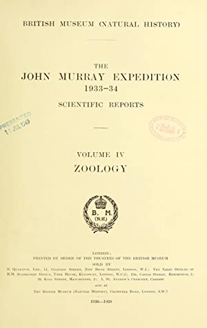 Scientific reports / John Murray Expedition 1933-34: John Murray Expedition