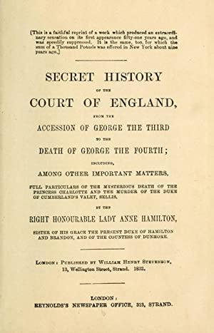 Secret history of the court of England: Hamilton, Anne, Lady,