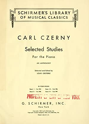 Selected studies for the piano : an: Czerny, Carl, 1791-1857,Oesterle,
