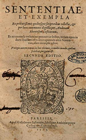 Sententiae et exempla ex probatissimis quibusque scriptoribus