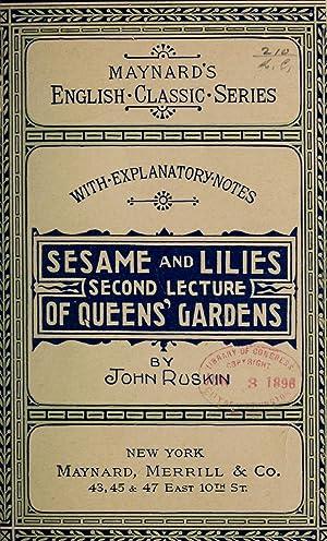 Sesame and lilies (1896) [Reprint]: Ruskin, John, 1819-1900
