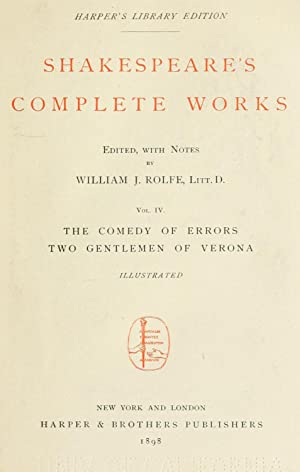 Shakespeare's complete works (Volume: 4) [Reprint]: Shakespeare, William, 1564-1616,Rolfe,