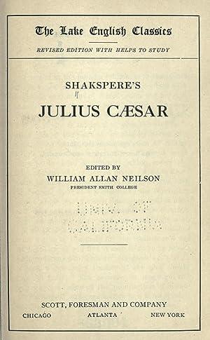 Shakspere's Julius Caesar [Reprint]: Shakespeare, William, 1564-1616,Neilson,