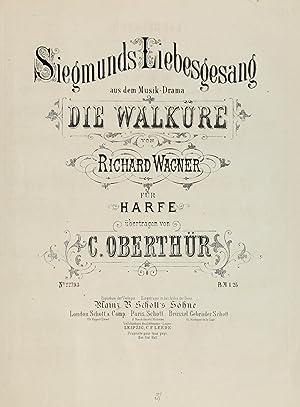Siegmunds Liebesgesang : aus dem Music Drama: Wagner, Richard, 1813-1883,Oberthür,