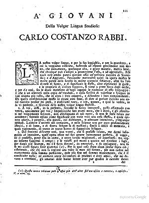 Sinonimi ed aggiunti italiani raccolti dal padre: Carlo Costanzo Rabbi