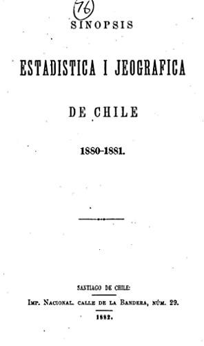 Sinopsis estadÃstica de la República de Chile: Chile. Oficina Central