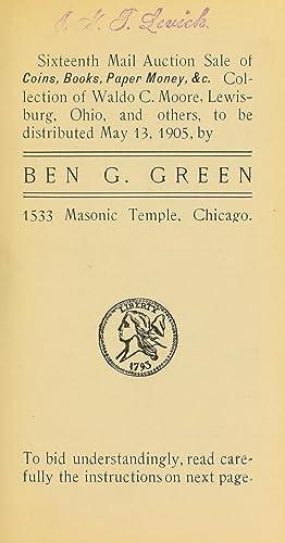 Sixteenth mail auction sale of coins, books,: Green, Ben G.