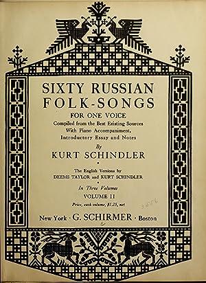 Sixty Russian folk-songs for one voice (1919): Schindler, Kurt, 1882-1935,