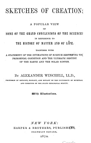 Sketches of Creation [Reprint]: Alexander Winchell