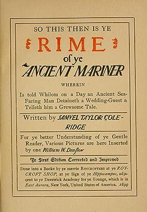 So this then is ye Rime of: Coleridge, Samuel Taylor,