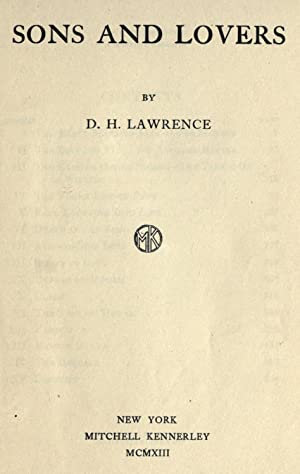 Sons and lovers [Reprint]: Lawrence, D. H.