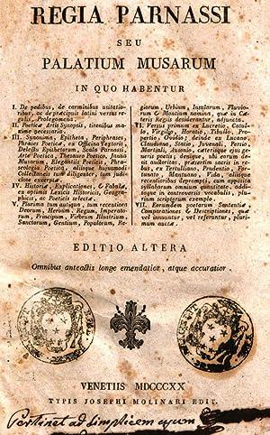 Regia Parnassi seu Palatium musarum in quo: Jacques Vaniere