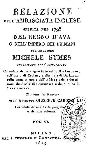 Relazione dell'ambasciata inglese spedita nel 1795 nel