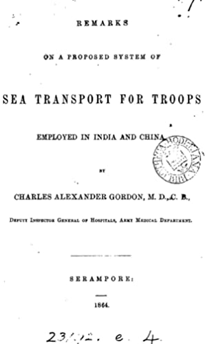 Remarks on a proposed system of sea: Charles Alexander Gordon