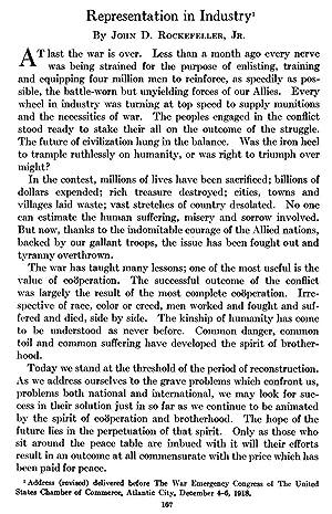 Representation in Industry (1919) (Volume: 81) [Reprint]: Rockefeller, John D.