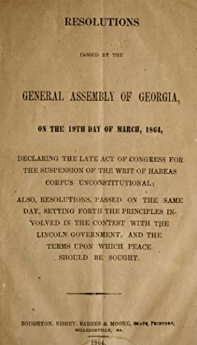 Acts Passed General Assembly Georgia Abebooks