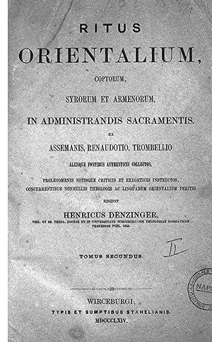 Ritus orientalium, coptorum, syrorum et armenorum in
