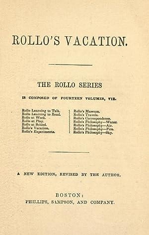 Rollo's vacation [Reprint]: Abbott, Jacob, 1803-1879