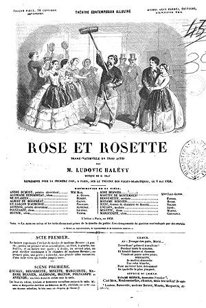 Rose et Rosette dramevaudeville en trois actes: Ludovic Halévy