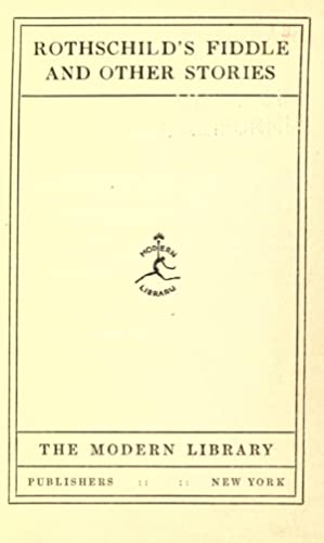 Rothschild's fiddle and other stories [Reprint]: Chekhov, Anton Pavlovich,
