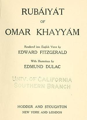 Rubaiyat of Omar Khayyam; rendered into English: Omar Khayyam,FitzGerald, Edward,