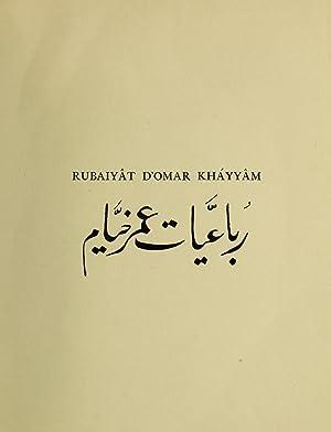Rubaiyât d'Omar Kháyyâm : mis en rimes: Omar Khayyam. n