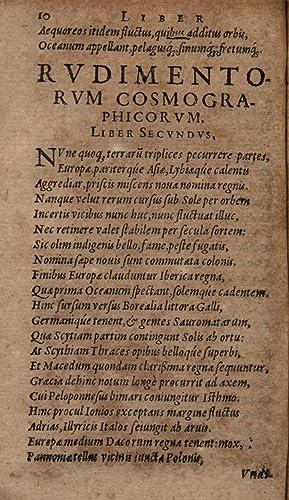 Rudimentorum cosmographicorum Ioannis Honteri Coronensis, libri 4.: Johannes Honter