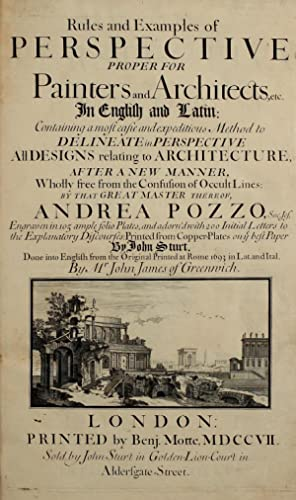 Rules and examples of perspective, proper for: Pozzo, Andrea, 1642-1709,James,