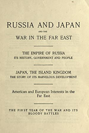 Russia and Japan, and a complete history: Unger, Frederic William,