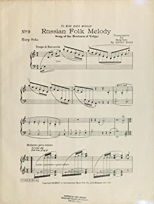 Russian folk melody : Song of the: Hass, Adolf