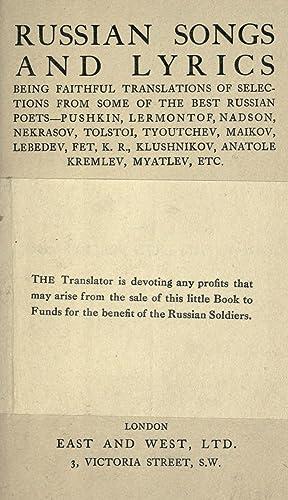Russian songs and lyrics: being faithful translations: Pollen, John, 1848-