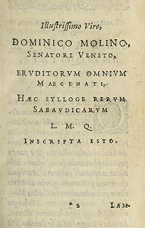 Sabaudiæ respublica et historia (1634) [Reprint]: Burch, Lambert van