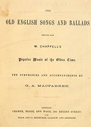 Old English Ballads Abebooks