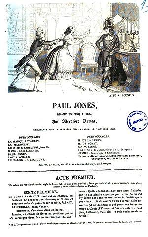 Paul Jones drame en cinq actes par: Alexandre père Dumas