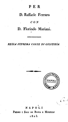 Per d. Raffaele Ferraro con d. Florindo