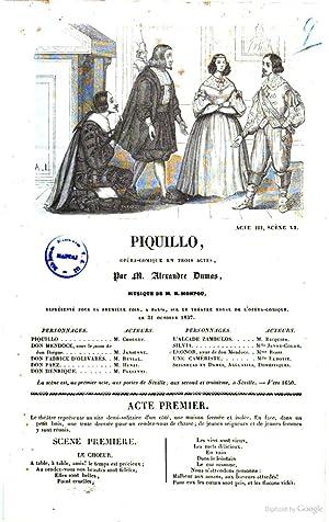 Piquillo opera comique en trois actes par: Alexandre pà re