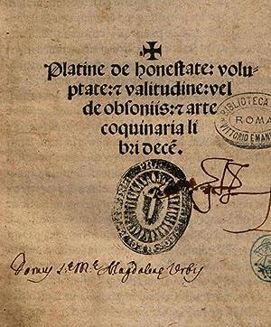 Platine De honestate voluptate & valitudine vel: Platina