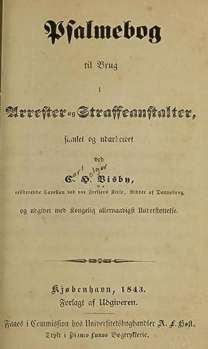 Psalmebog til brug i arrester og straffeanstalter: Visby, Carl Holger,