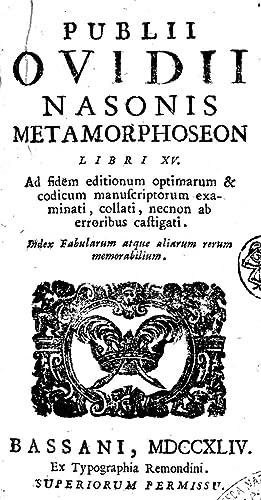 Publii Ovidii Nasonis Metamorphoseon libri 15. ad: Publius Ovidius Naso