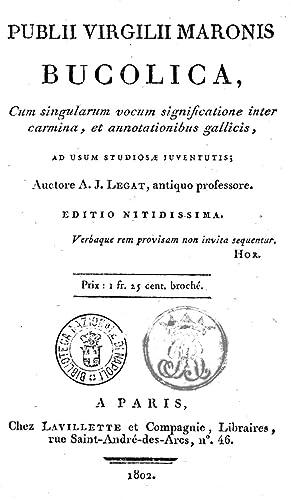 Publii Virgilii Maronis Bucolica, cum singularum vocum