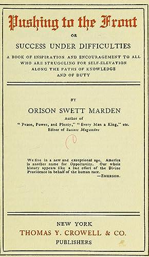 Pushing to the front; (1894) (Volume: c.1): Marden, Orison Swett,