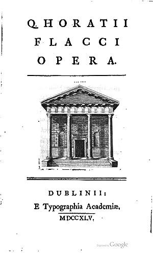Q. Horatii Flacci opera [ed. by J.: Quintus Horatius Flaccus