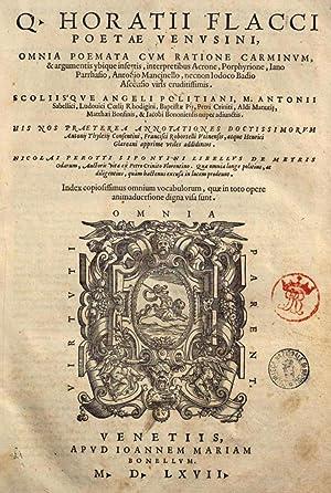 Q. Horatii Flacci poetae Venusini, Omnia poemata