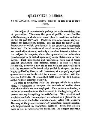 Quarantine Methods (1897) (Volume: 165) [Reprint]: Doty, Alvah H.
