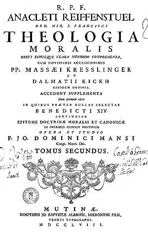 R.P.F. Anacleti Reiffenstuel Ord. min. s. Francisci
