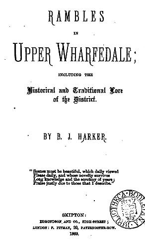 Rambles in Upper Wharfedale [Reprint]: Bailey John Harker