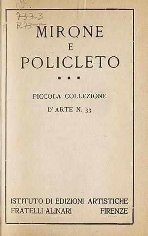 Mirone e Policleto. -- (1922) [Reprint]: Myron, active 5th